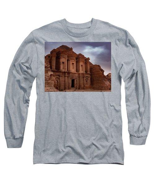 Petra's Monastery Long Sleeve T-Shirt