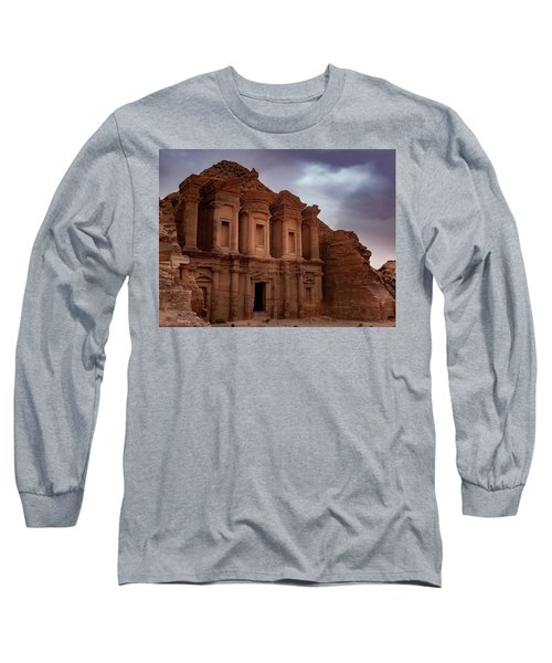 Petra's Monastery Long Sleeve T-Shirt