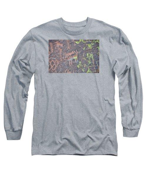 Petroglyph Wolf Attack Long Sleeve T-Shirt