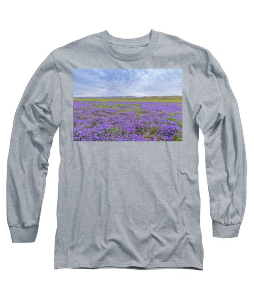 Long Sleeve T-Shirt featuring the photograph Phacelia Field by Marc Crumpler