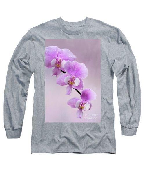 Phalaenopsis Schilleriana Fragrant Butterfly Orchid V2 Long Sleeve T-Shirt