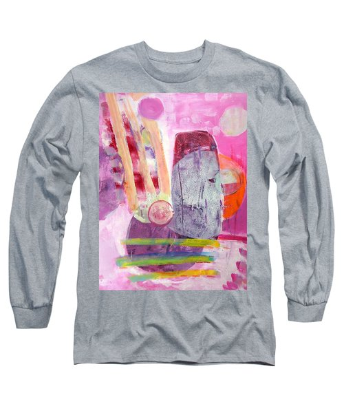 Long Sleeve T-Shirt featuring the painting Phases by Mary Schiros