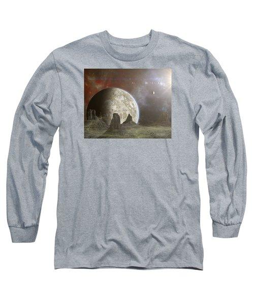 Phobos Long Sleeve T-Shirt by Mark Allen