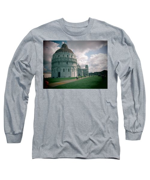 Long Sleeve T-Shirt featuring the photograph Piazza In Piza by Christin Brodie