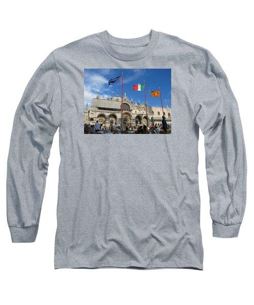 Piazza San Marco Venice Long Sleeve T-Shirt by Lisa Boyd