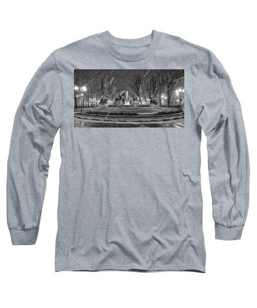 Piazza Solferino In Winter-1 Long Sleeve T-Shirt by Sonny Marcyan