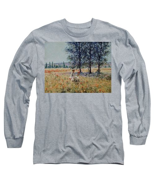 Picking Flowers  Long Sleeve T-Shirt by Pierre Van Dijk