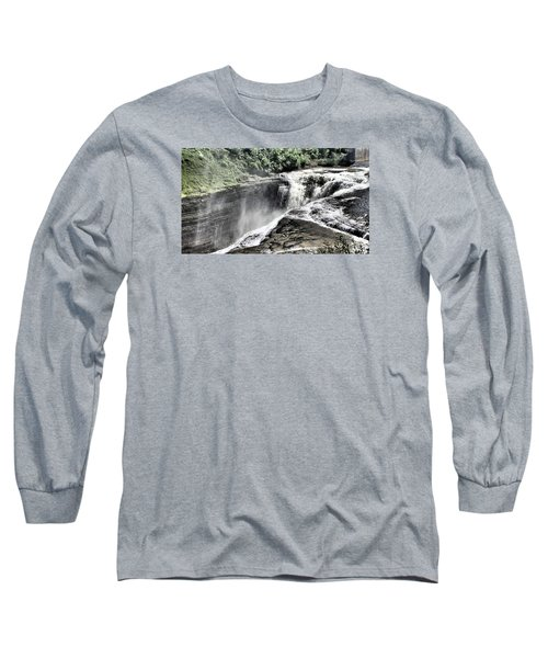 Picture Of Waterfalls At Letchworth Long Sleeve T-Shirt