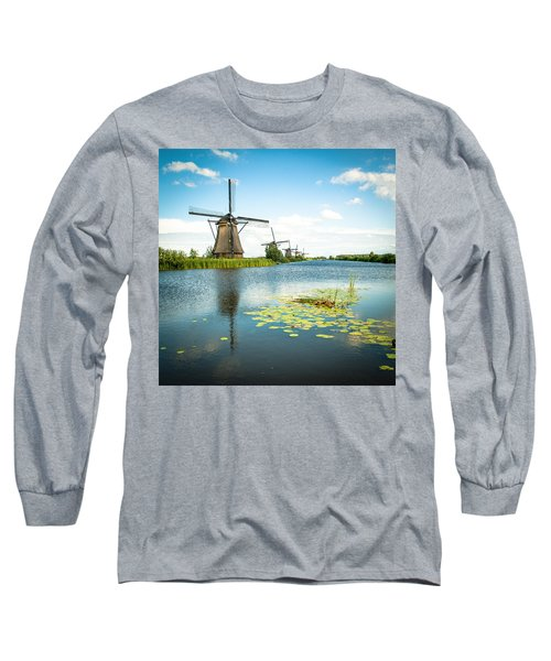 Long Sleeve T-Shirt featuring the photograph Picturesque Kinderdijk by Hannes Cmarits