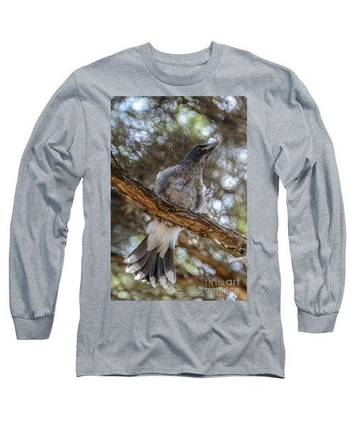 Pied Currawong Chick 1 Long Sleeve T-Shirt