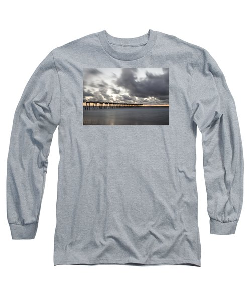 Pier In Misty Waters Long Sleeve T-Shirt