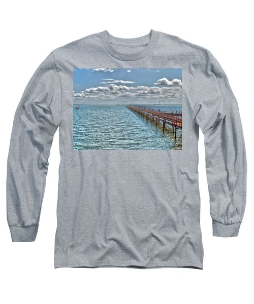 Pier Into The English Channel Long Sleeve T-Shirt