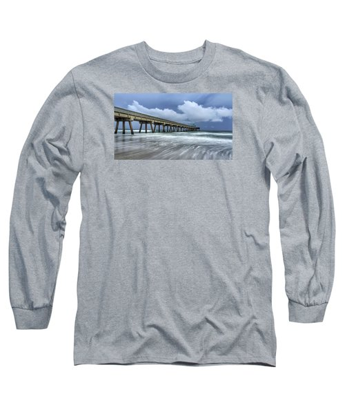 Pier Time Lapse Long Sleeve T-Shirt