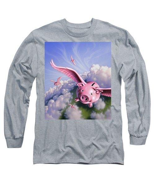Pigs Away Long Sleeve T-Shirt