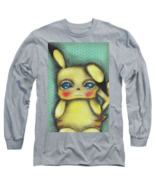 Pikachu  Long Sleeve T-Shirt by Abril Andrade Griffith