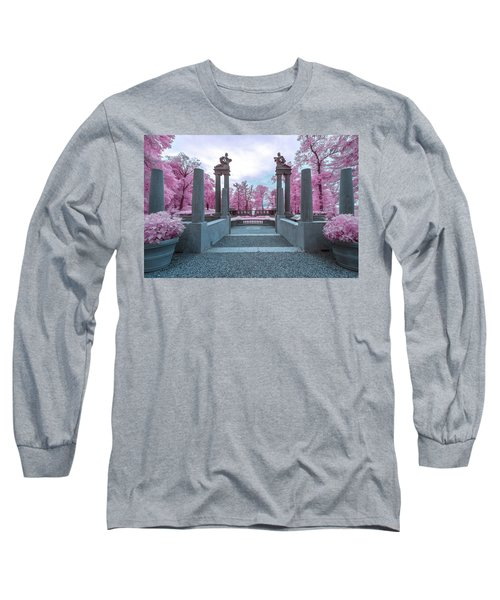 Long Sleeve T-Shirt featuring the photograph Pillars With Pink by Brian Hale