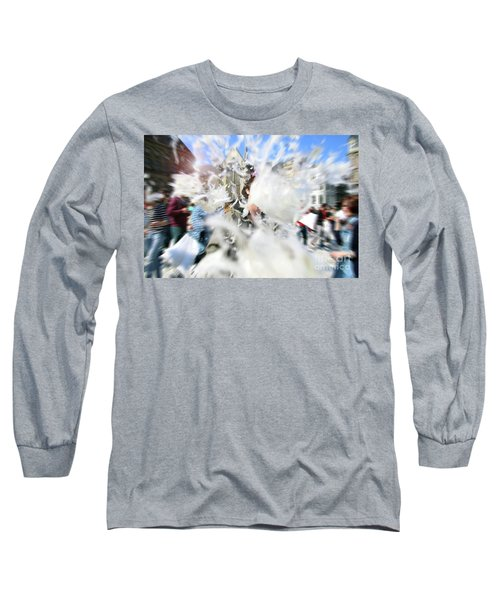 Pillow Fight Long Sleeve T-Shirt by Ana Mireles