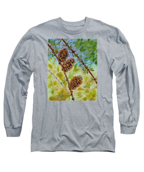 Pinecones  Long Sleeve T-Shirt by Mike Caitham