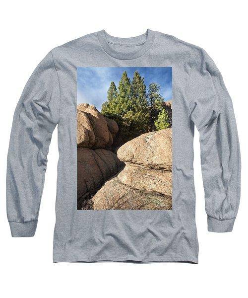 Pines In Granite Long Sleeve T-Shirt