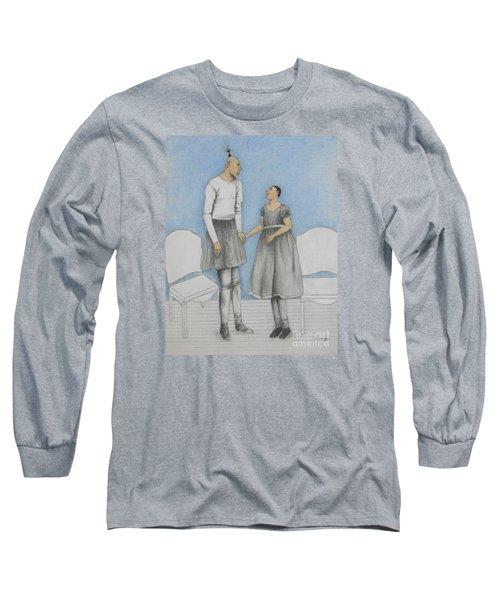 Pinhead Friends -- Portrait Of 2 Developmentally Disabled Men Long Sleeve T-Shirt