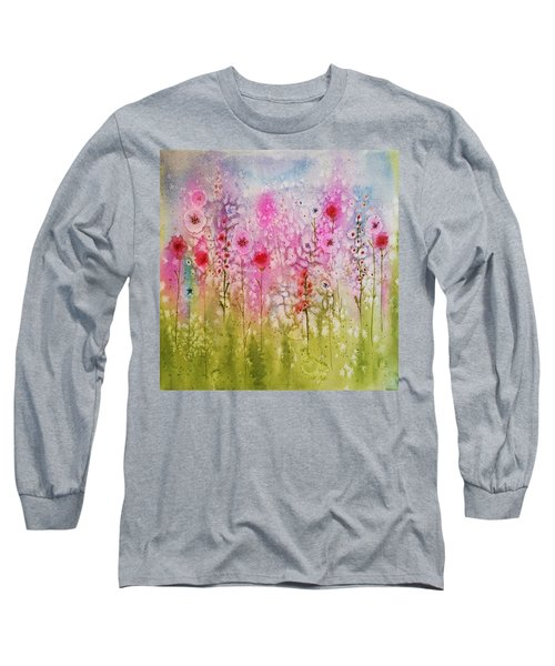 Pink Abstract Long Sleeve T-Shirt