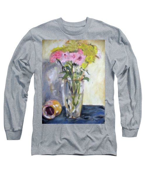 Pink And Yellow Flowers Long Sleeve T-Shirt