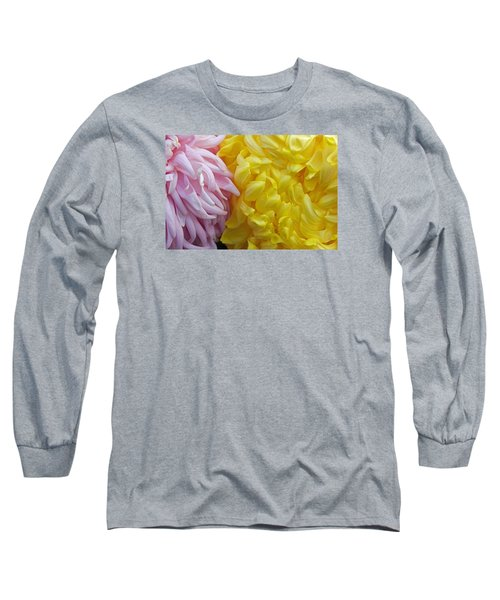 Pink And Yellow Mums Long Sleeve T-Shirt by Jim Gillen