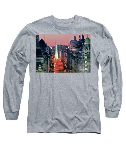Long Sleeve T-Shirt featuring the photograph Pink Buenos Aires  by Bernardo Galmarini