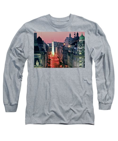 Pink Buenos Aires  Long Sleeve T-Shirt