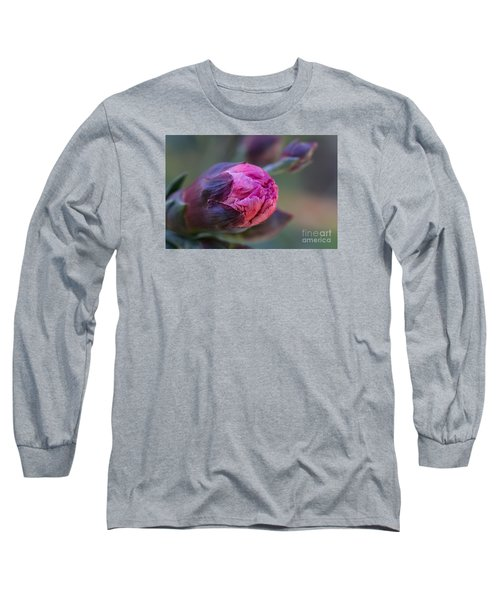 Pink Carnation Bud Close-up Long Sleeve T-Shirt