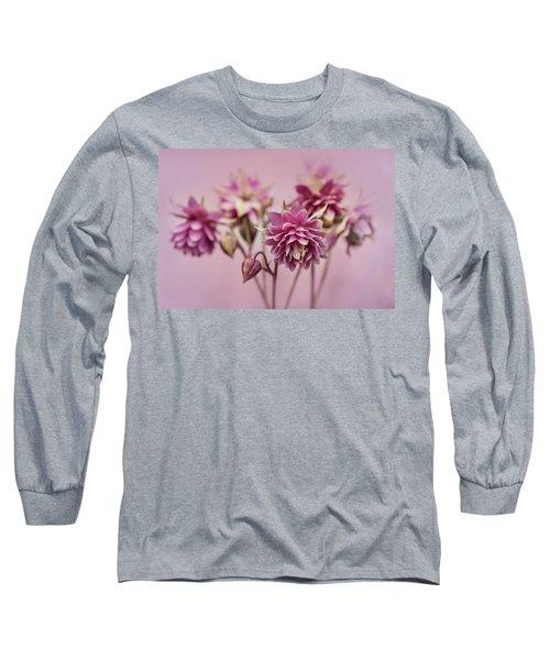 Pink Columbines Long Sleeve T-Shirt