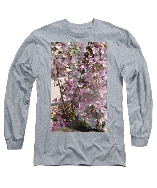 Pink Crabapple Branch Long Sleeve T-Shirt