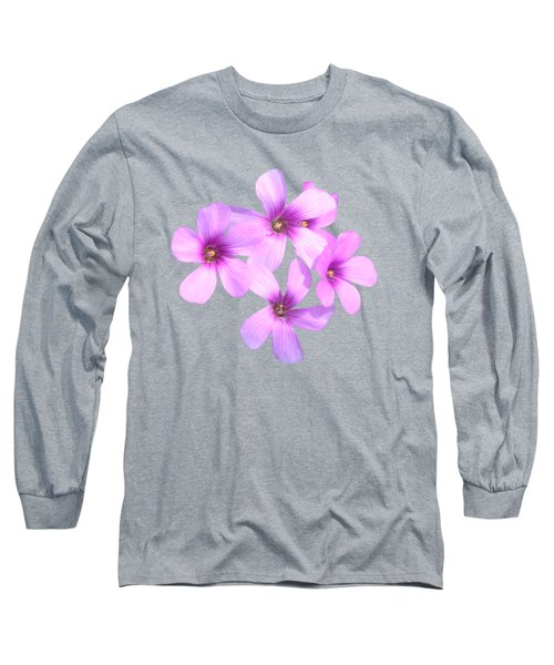 Pink Cutout Flowers Long Sleeve T-Shirt by Linda Phelps