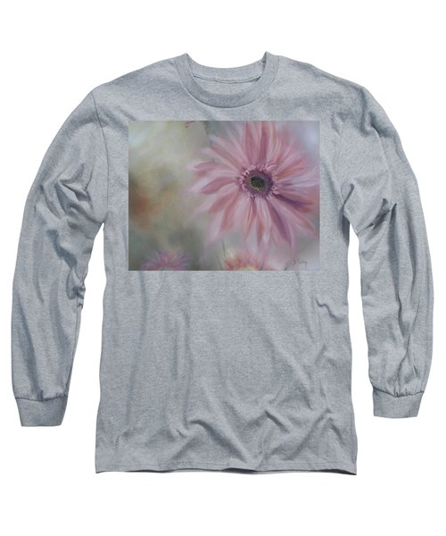 Long Sleeve T-Shirt featuring the painting Pink Daisies by Donna Tuten