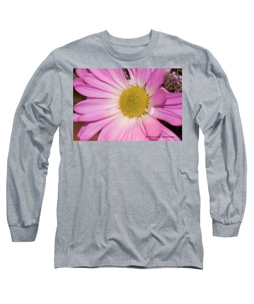 Pink Daisy Long Sleeve T-Shirt by Nance Larson