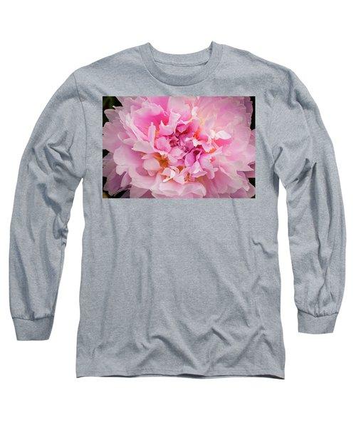 Pink Double Peony Long Sleeve T-Shirt