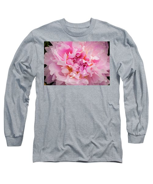 Pink Double Peony Long Sleeve T-Shirt