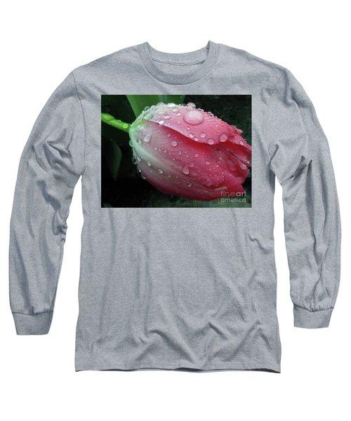 Pink Drops 2 Long Sleeve T-Shirt