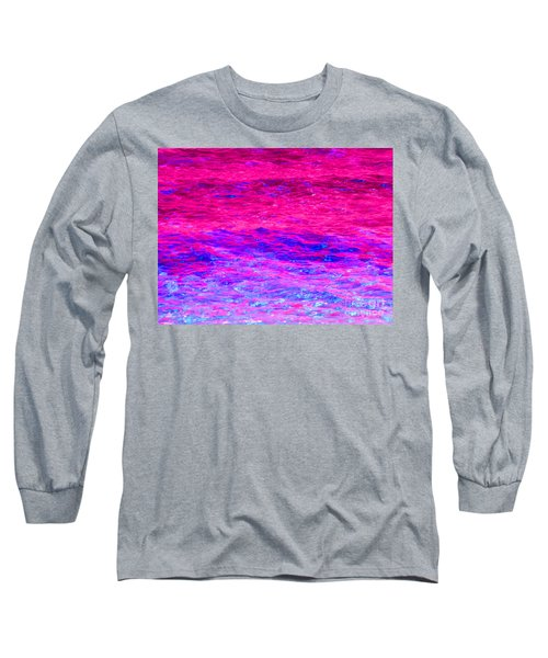 Pink Fantasy Waters Abstract Long Sleeve T-Shirt