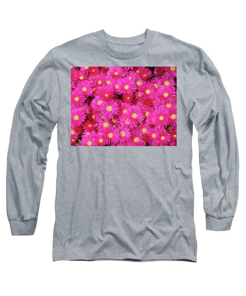 Pink Flower Explosion Long Sleeve T-Shirt by Mark Barclay