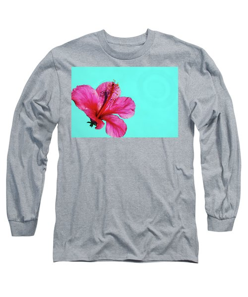 Pink Flower In Water Long Sleeve T-Shirt