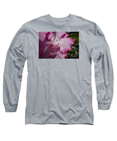 Pink Flowers 1 Long Sleeve T-Shirt by Jean Bernard Roussilhe