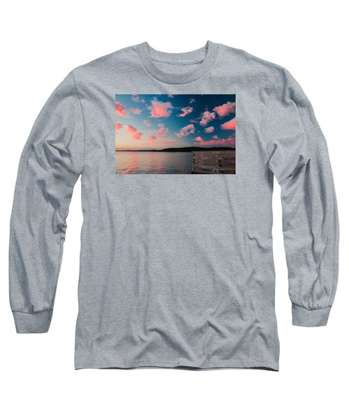 Long Sleeve T-Shirt featuring the photograph Pink Fluff In The Air by E Faithe Lester