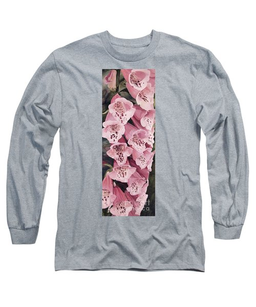 Pink Foxglove Long Sleeve T-Shirt