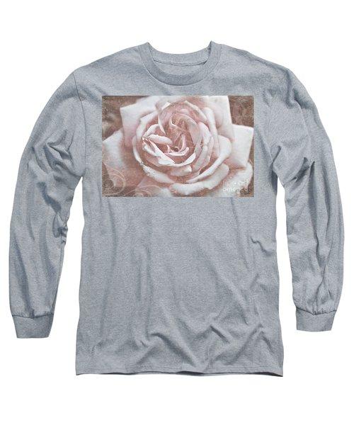 Pink Garden Rose Long Sleeve T-Shirt