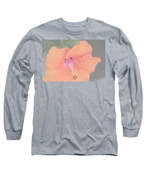 Pink Heavenly Hibiscus Long Sleeve T-Shirt