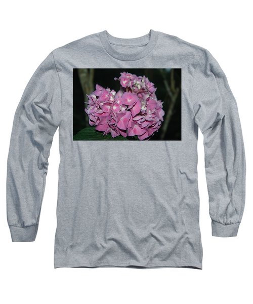 Pink Hydrangea Long Sleeve T-Shirt