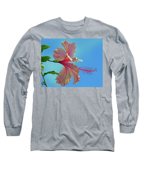 Pink Lady Hibiscus Long Sleeve T-Shirt