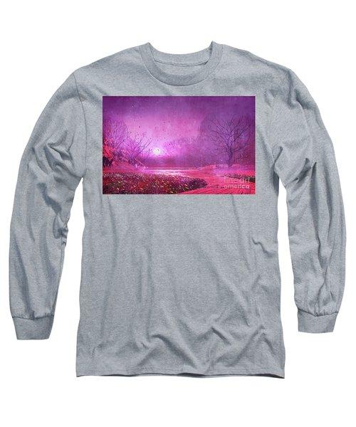Pink Landscape Long Sleeve T-Shirt