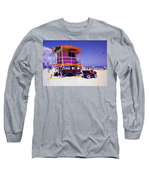 Pink Lifeguard Stand Long Sleeve T-Shirt